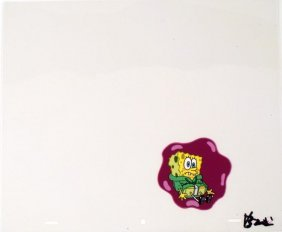Original Shock and Awe Cel Art Spongebob Animation