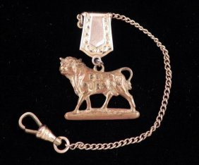 Bull Durham Tobacco Vintage 14K GP Watch Fob Charm