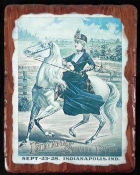 Antique Indiana State Fair Advertising Print 1852