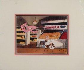 Pink Panther Orig Freleng Production Cel, Bckgrnd Store