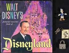 3 Vintage Disneyland Souvenirs Pictorial Figure Flasher