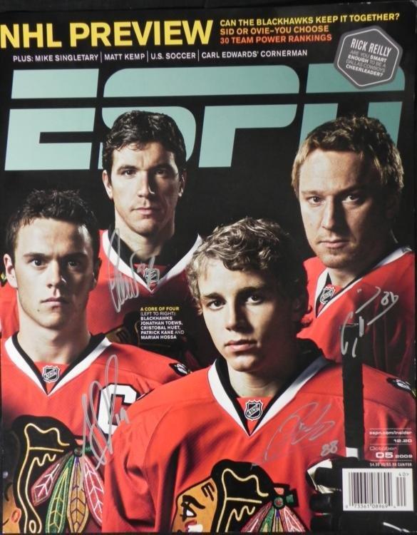 Blackhawks Signed ESPN Poster Toews, Huet, Kane, Hossa