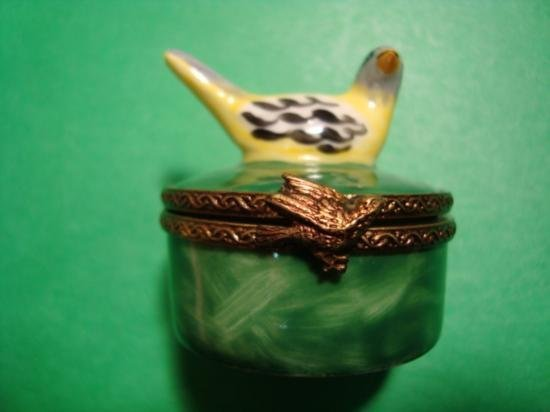 French hand painted Limoges box signed by artist