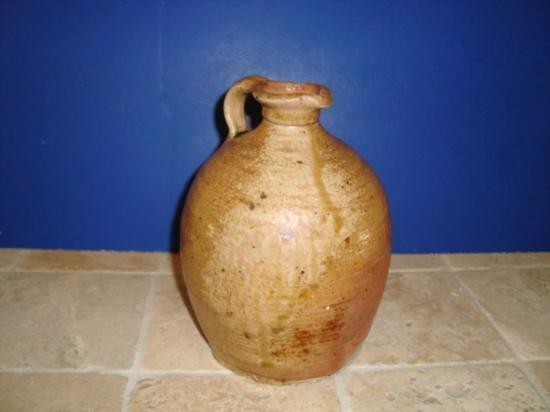 Antique French walnut oil jar circa 1850