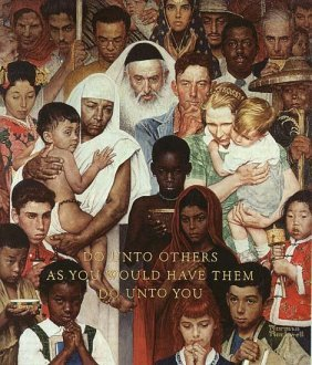 Golden Rule By Norman Rockwell S/N 29x24