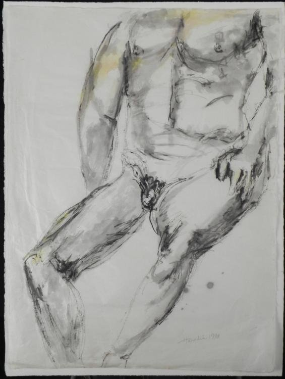 Betty Snyder Rees Original Painting & Drawing Nude Male