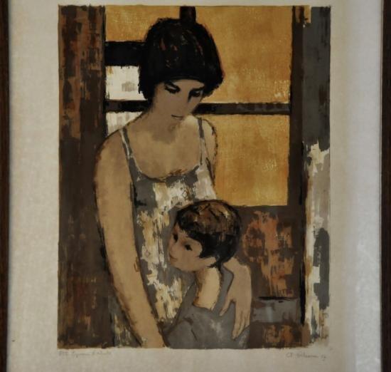 André Plisson b.1929 author's Lithograph 1/25. Sig