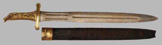 MWF1315 RARE OFFICER~S French Artillery Sword French