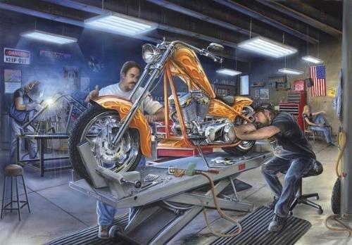Motor Marc Lacourciere BURING DESIRE Motorcycle Art