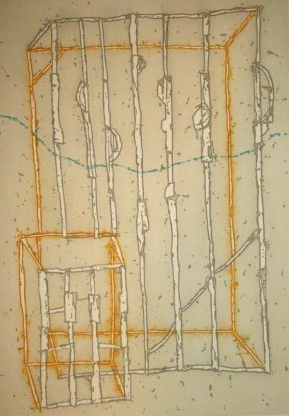 "Craig Kauffman Signed LE Art Print ""Untitled 1"""