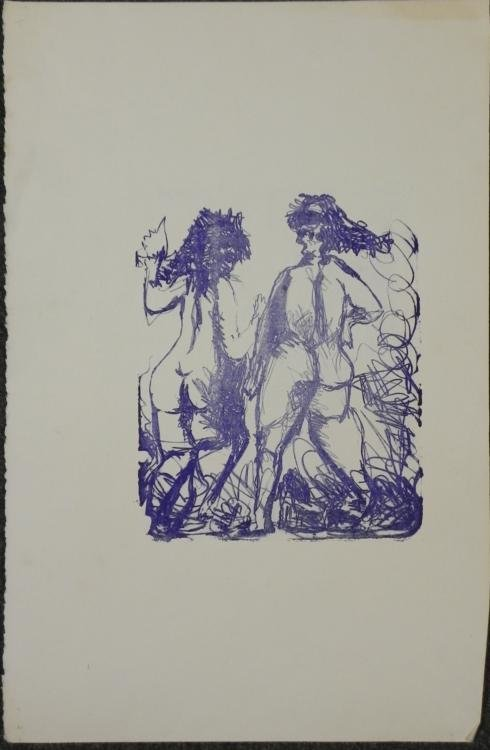 Betty Snyder Rees Original Art Print -Two Women in Blue