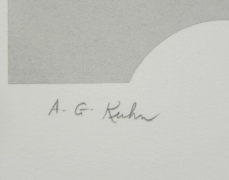 Audrey Grendahl Kuhn Signed Print Totem Poles I - 3