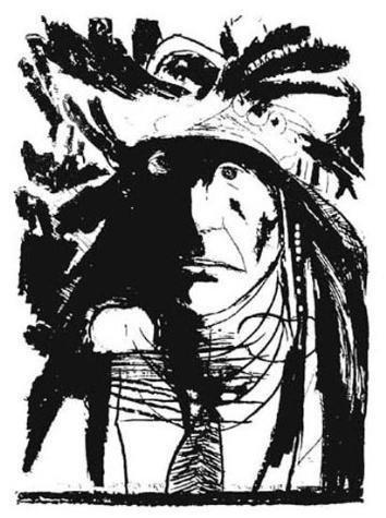 Baskin Signed SPIES ON HIS ENEMIES Crow Art Print 1972