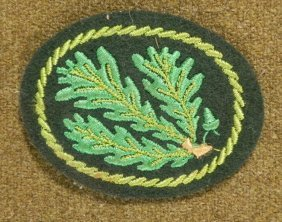 """NAZI WWII FORESTRY OFFICIALS PATCH-ORIG  2X2/12"""""""