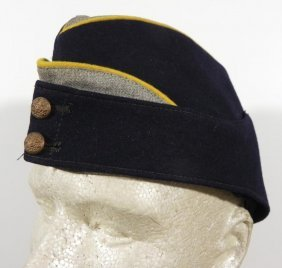 BRITISH MILITARY REGIMENTAL SIDE CAP-YELLOW PIPING