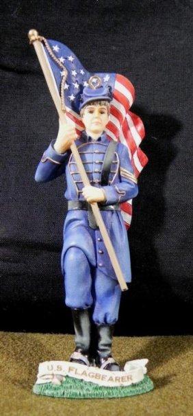 """U.S. CIVIL WAR FLAGBEARER STATUE-5 1/2"""" 2002 DMA"""
