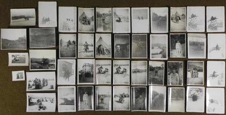 COLLECTION OF WWII GI PHOTOS IN ETO/EUROPE WINTER