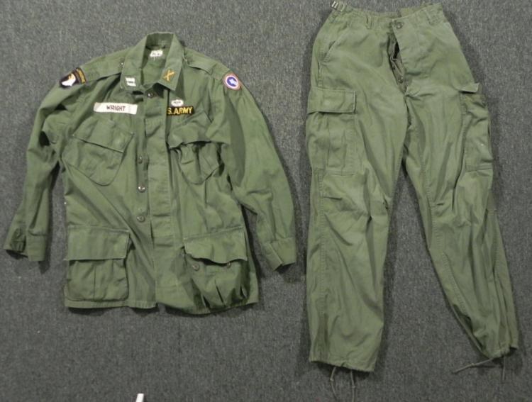 101ST AIRBORNE COMBAT TROPICAL UNIFORM JACKET AND PANTS