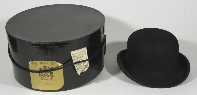 Paxton Vintage Derby Bowler Hat in Orig Box Size 7 3/8