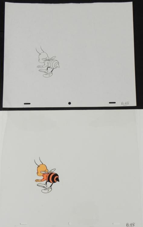 Orig Animation Buzz Cel Drawing Cheerios Pause Honey