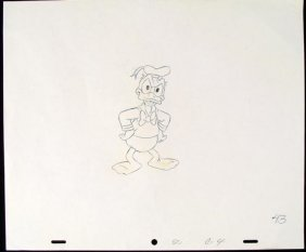 Original Drawing Demanding Orders Animation Donal Duck