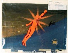 Stan Lee Fantastic Four Original Animation Signed Cel