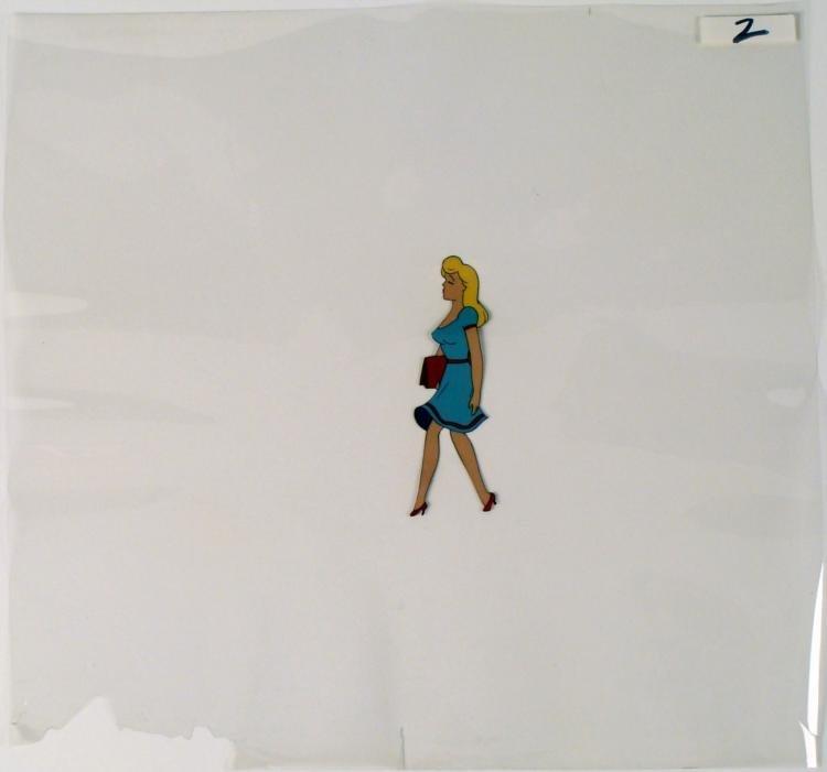 Animation Cel Beautiful Day Original Blonde Girl Art