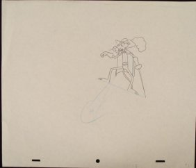 Original Animation Drawing Pink Panther Sword Show Art