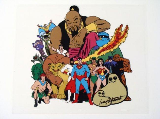 Signed Animation18 Superheroes Original Model Cel