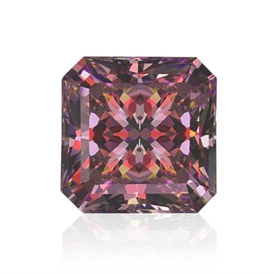 Bianco 2 Carat Pink Asscher Cut Diamond