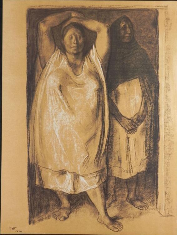 Francisco Zuniga Art Print Mother & Daughter