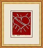 Heart for You Linocut by Brooke