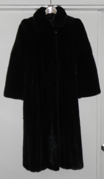 Dark Mink Fur Full Lenth Ladies Coat -York Furrier