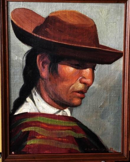 Oil painting by J. Levoyer listed.