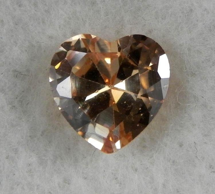 5.13ct Natural Gemstone Champagne Color Heart Shaped