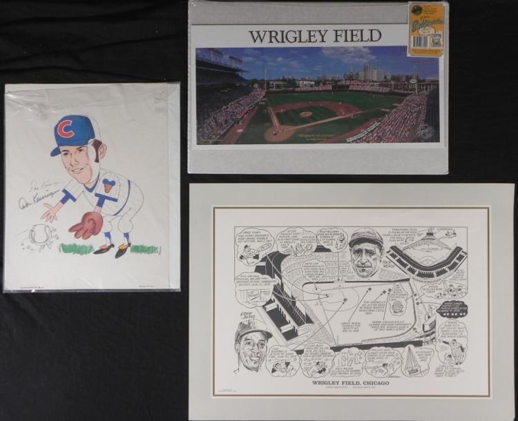 Chicago Cubs Memorabilia Signed Kessinger Wrigley Field