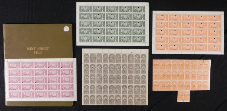 150+ Specimen Stamps Blocks Ecuador, Haiti Vintage,Book