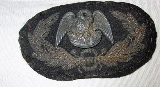MWF2244 Confederate LA General Officers hat insignia