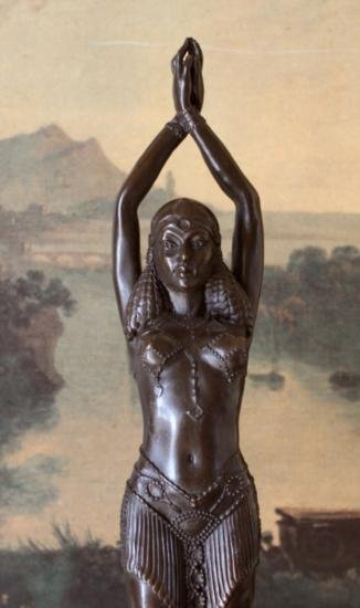 DDSM046 Art Deco Belly Dancer Bronze Sculpture After L