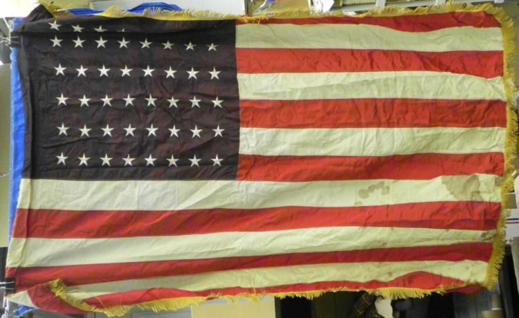 WWII ERA 4X5 FOOT AMERICAN FLAG- 48 STARS