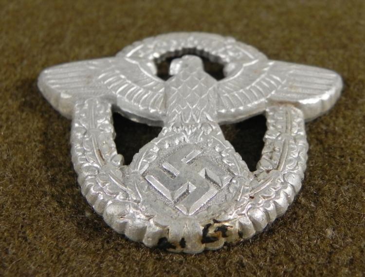 NAZI POLICE VISOR CAP INSIGNIA-ORIGINAL - 3