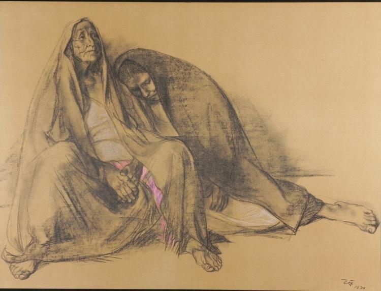 Francisco Zuniga Mom and Daughter Art Print 1974