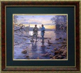 Mort Kunstler Civil War Framed Print Rappahannock VA