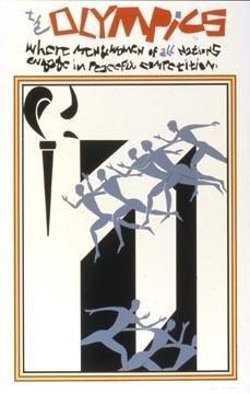 Romare Bearden 1976 Olympics Art Poster