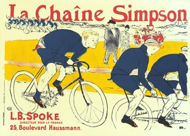 Toulouse-Lautrec La Chaine Simpson Lithograph Art Print