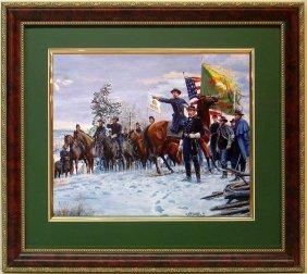 Mort Kunstler Civil War Frmd Print Fighting 69th Irish