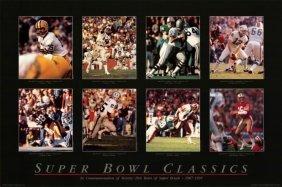 Super Bowl Classics Rare Poster