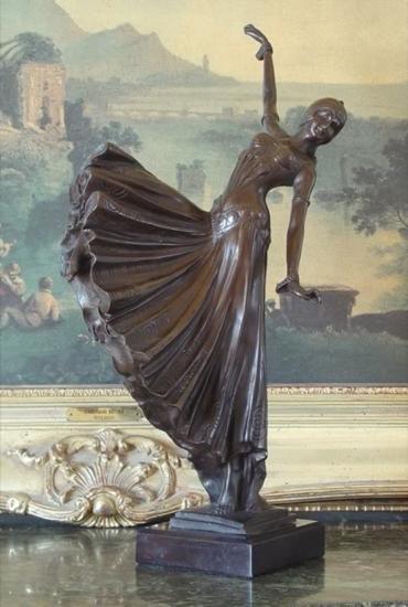 Magnificent Bronze Sculpture Ballroom Dancer Art Deco