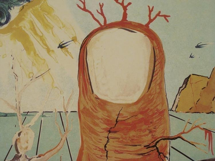 Salvador Dali : The Thumb Surrealistic Art Print - 2