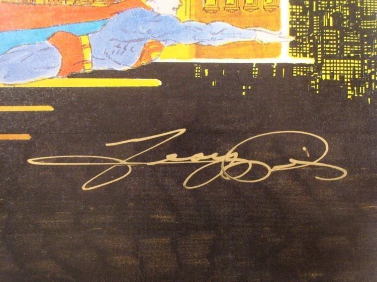 Superman Signed George Perez Print Defender of Mankind - 3